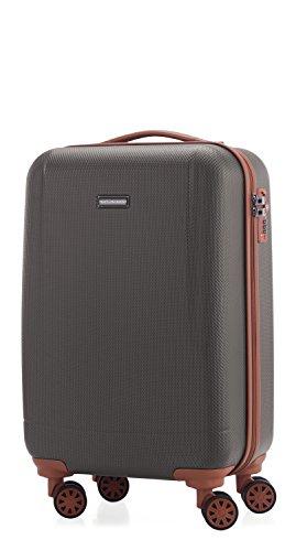 HAUPTSTADTKOFFER - Wannsee - Valigia bagaglio a mano 58 cm, Trolley rigido, legero , ABS, TSA, 37 litri, Titanio