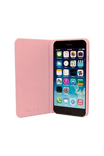 Ozaki OC558BK 0.3 Folio - stylische, dünne Klapp-Tasche aus widerstandsfähigem Kunstleder für das Apple iPhone 6 / 6S  - schwarz pink