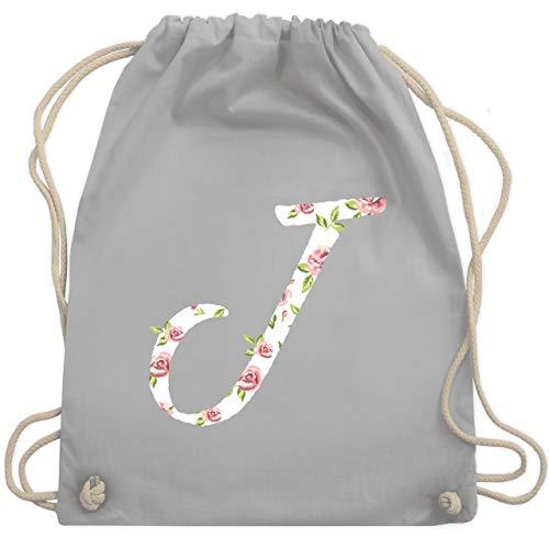 Anfangsbuchstaben - J Rosen - Unisize - Hellgrau - WM110 - Turnbeutel & Gym Bag (Buchstaben J-rucksack)