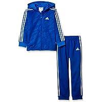 adidas Unisex Baby Shiny Full Zip Hooded Trainingsanzug