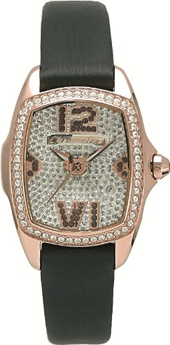 Chronotech LADY NIGHT CT.7930LS/35 - Reloj de mujer de cuarzo, correa de piel color negro