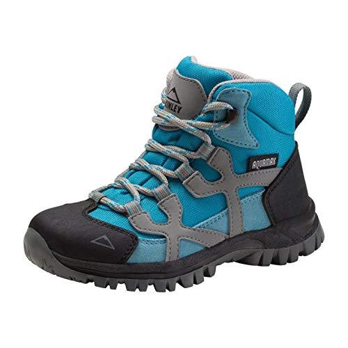 McKINLEY Unisex-Kinder Santiago Pro Aquamax Trekking- & Wanderstiefel Grau (Anthracite/Turquoise 903) 34 EU
