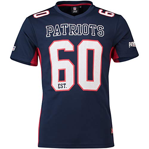 Majestic Athletic New England Patriots NFL Moro Poly Mesh Jersey T-Shirt Trikot