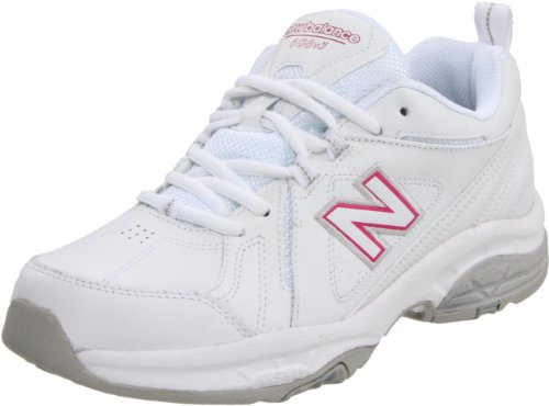 New Balance WX608 Cuir Chaussure de Marche - White with Pink
