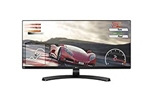 "LG 34UM68 Monitor da 34"", 21:9 UltraWide LED IPS, 2560x1080, AMD FreeSync 75Hz, Multitasking, Audio 2.0 14W, Regolazione Altezza"
