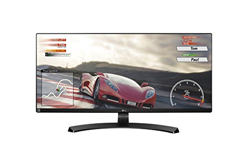 LG 34UM68 Monitor da 34', 21:9 UltraWide LED IPS, 2560x1080, AMD FreeSync 75Hz, Multitasking, Audio 2.0 14W, Regolazione Altezza