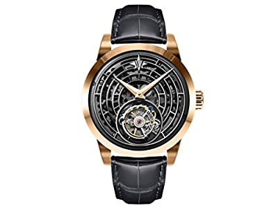 Memorigin Windows of Life Series Tourbillon Watch Black Strap