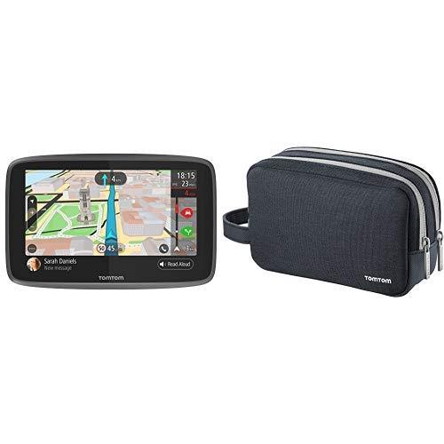 TomTom GO 6200 Navigatore GPS per Auto, Display da 6', Scheda SIM Integrata, Aggiornamenti Tramite W + Custodia da viaggio universale per TomTom