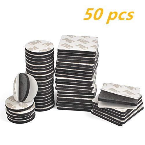 TIMESETL 50 Piezas Almohadillas Adhesivas 3M Doble