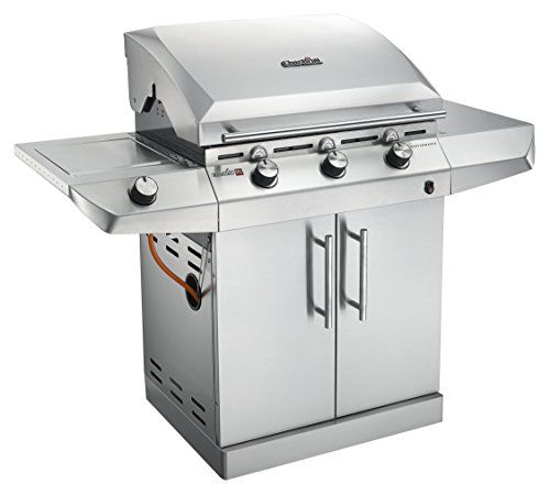 Char-Broil Performance Series T36G5 - 3 Burner Gas Barbecue Grill with TRU-Infrared technology and Side-Burner, Stainless Steel Finish.