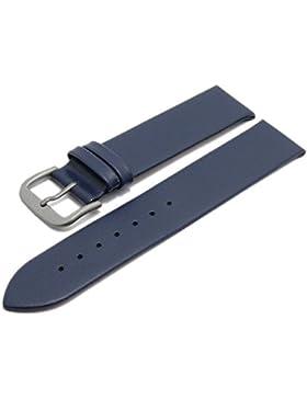 Meyhofer Uhrenarmband Nantes 20mm dunkelblau Kalb-Nappaleder Titanschließe glatt MyCrklb528/20mm/dblau/oN