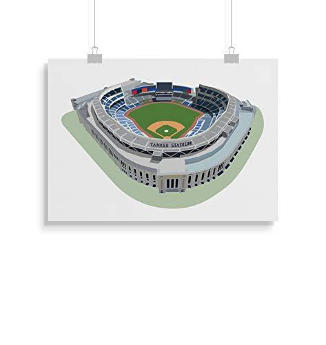 Yankee Stadion inspirierte Poster - Zitat - Alternative Sport/Baseball Prints in verschiedenen Größen (Rahmen nicht im Lieferumfang enthalten)