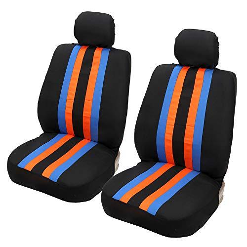 Coprisedili anteriori per auto parafanghi interni auto colorati coperchi colorati coperchi universali adatti solo per poggiatesta amovibile, nero