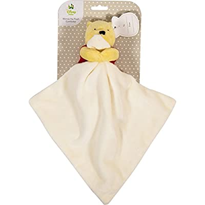 Winnie The Pooh Hallmark Comforter Soft Fabric Kind to Babies Skin Toy Baby Shower/Christening Blanket Newborn Toddler Gift Teddy Bear Comfort Soother for Girls and Boys