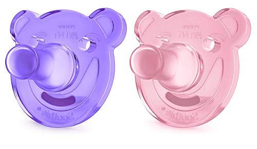 Philips Avent Soothie 0-3 Monate SCF194/02, Doppelpack, Mädchen, rosa/lila