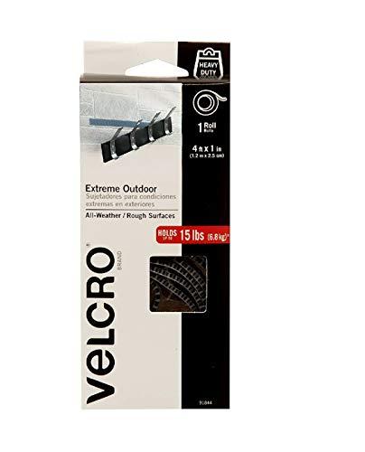 Velcro-Marke - Industrielle Stärke Extreme Outdoor - Heavy Duty, Superior Halt Power auf rauen Oberflächen Titan 4ft x 1in Tape -