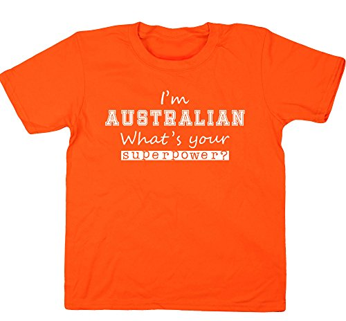 hippowarehouse-t-shirt-fille-6-ans-orange-4-ans