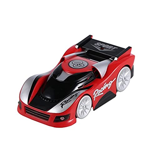 RC Car,4CH Remote Control Wall Floor Climber Climbing RC Toy Car Racer Vehicle for Kids (Red)