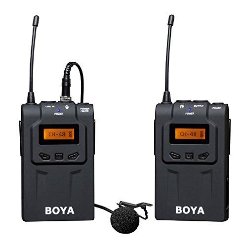 BOYA BY-WM6 48-Channel UHF microphone Micro-cravate Condensateur omnidirectionnel sans fil pour Canon 700D 650D 6D 7D 5D2 5D3 Nikon D750 D700 D800 Sony Panasonic DSLR caméras caméscopes