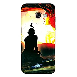 CrazyInk Premium 3D Back Cover for Samsung A7 2017 - Statue Different Art