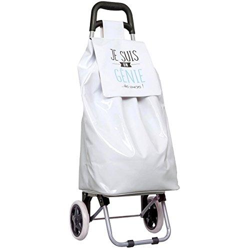 Promobo - Chariot De Courses Shopping A Roulettes Collection Fun Je Suis Un Génie