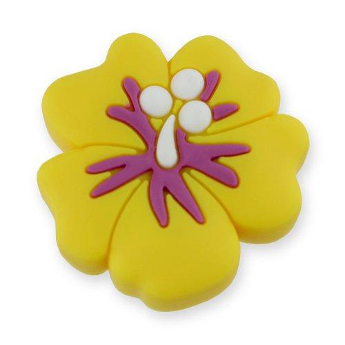 MyGrips GM-06 Kindermöbel Knopf Hibiskusblüten Türknopf/nauf, gelb