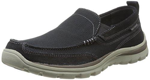 Skechers SuperiorMilford, Chaussures de ville homme Noir (Blk)