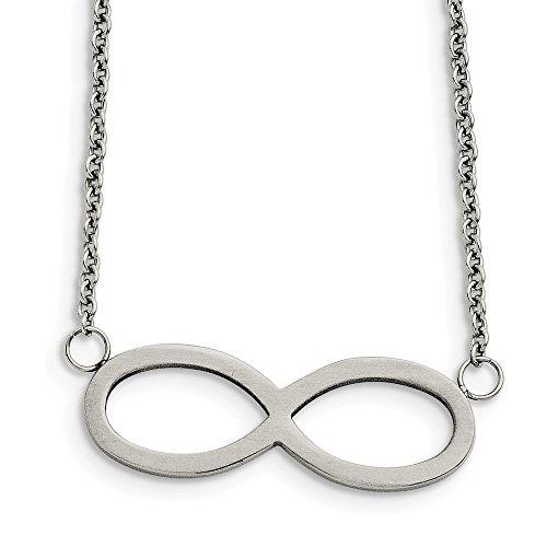 Sonia gioielli in acciaio inox spazzolato/lucido infinito simbolo collana catena sicura chiusura aragosta lock (1mm) e acciaio inossidabile, cod. 3178757415