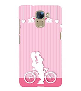 Lovely Romance 3D Hard Polycarbonate Designer Back Case Cover for Huawei Honor 7