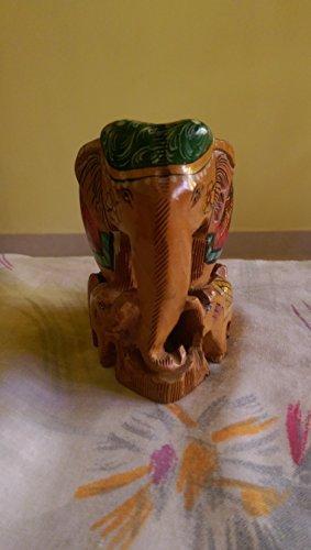 SouvNear Elefanten Tiere Deko Figuren / Skulpturen / Statuen - handgefertigte dekorative Massiv aus Holz Elefanten Indien, dekorative Tierfiguren und Tierstatuen - Elefant-Figur Wohnaccessoires und Dekorationen - Hause Dekor & Geschenkartikel