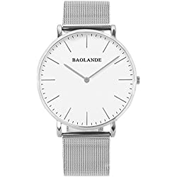 Alienwork Classic St.Mawes Quartz Watch elegant Wristwatch stylish Timeless design classic Metal silver silver U04916G-01