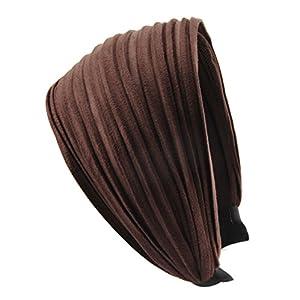 axy HR32 Haarreif Serie 32 Hair Band mit leichtem Flanell (Leder Optik)