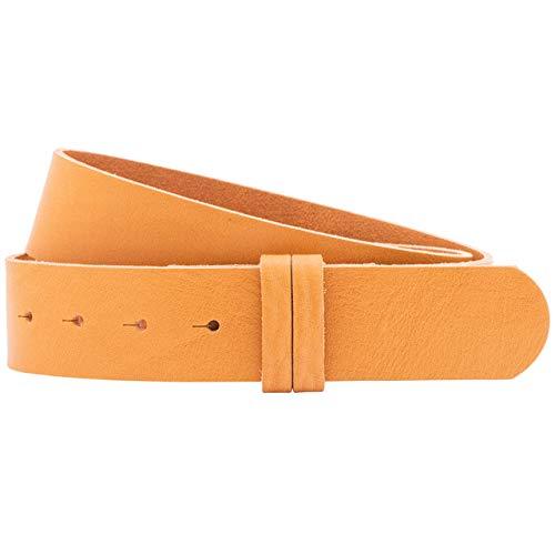 Luca Kayz Calvados - Cinturón de piel para mujer (sin hebilla intercambiable, 4 cm), color amarillo amarillo Cintura 100cm