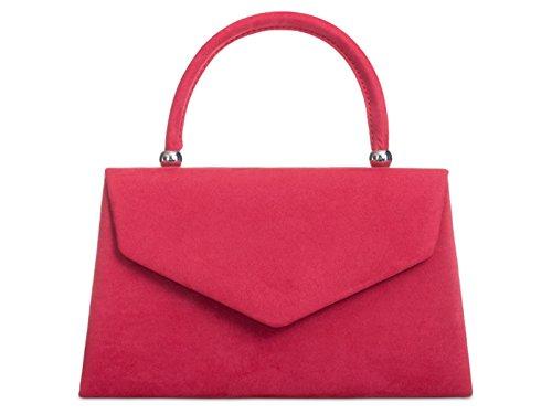 fi9®, Poschette giorno donna rosa Dusky Pink M Red