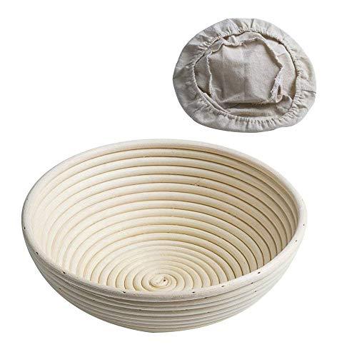 Can_deal cestino rotondo da lievitazione, diametro: 22 cm, altezza: 8,5 cm banneton proofing, 8,5