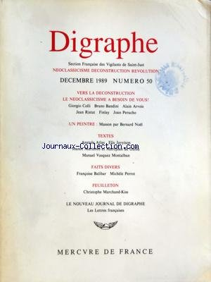 DIGRAPHE [No 50] du 01/12/1989 - VERS LA DECONSTRU...