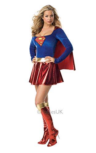 Für Comic Kostüme Frauen (Original Lizenz Supergirl Warner Bros Kostüm Gr. L, M, S, XS,)