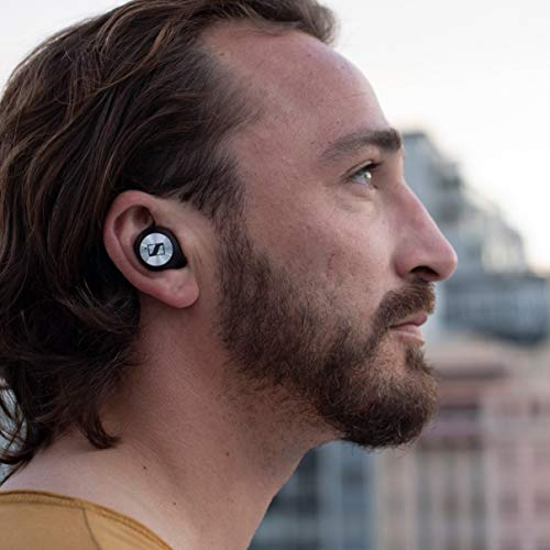 Sennheiser Momentum True Wireless in-Ear Bluetooth Headphone with Multi-Touch Fingertip Control (Black) Image 4