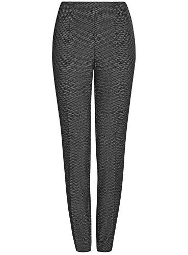 oodji Collection Damen Enge Hose mit Reißverschluss an der Seite Grau (2912J)