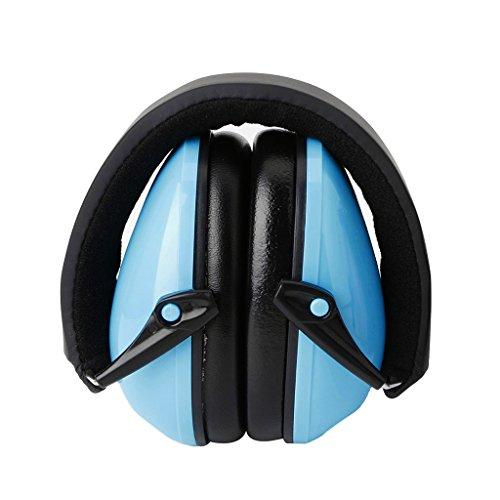 ECMQS Gehörschutz für Erwachsene und Kinder | Kompakt, Komfortabel und Faltbarer Gehörschützer | Verstellbarer Ohrschützer (Blau)