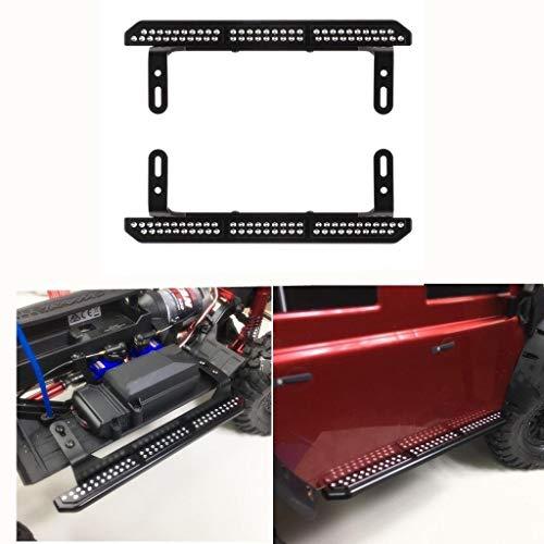 Fcostume Trittbretter aus Metall Seitliche Schritte Fußplatte für Traxxas TRX-4 1/10 Fernbedienung Crawler (As Shown) -
