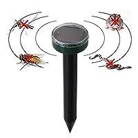 Sarplle Ultrasonic Animal Repeller 1PCS Solar Mole Repellent Defense For Against Pests, Deer, Skunk, Possum, Cats, Squirrel
