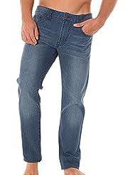 Solid Pantalon Jeans Stretch Rick