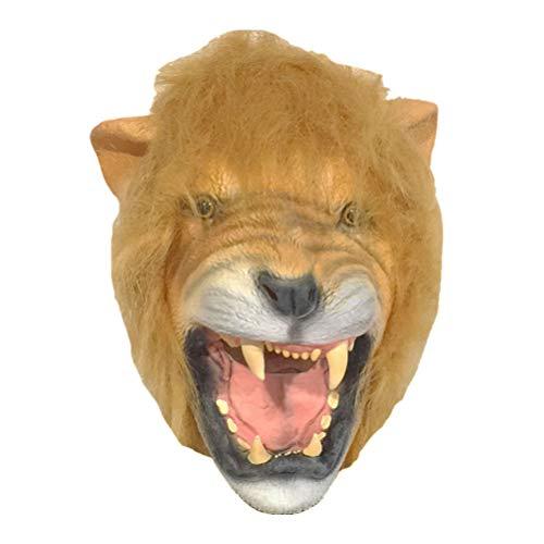 Freundliche Löwe Kostüm - Amosfun Halloween Löwe Maske Tierkopf Maske Halloween Cosplay Kostüm Party Maske