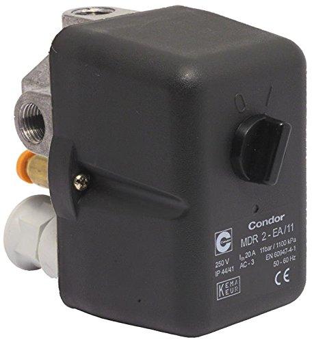 Preisvergleich Produktbild Druckschalter CONDOR MDR 3 EA/11 bar, 400 Volt (16 - 20 A), inkl. Druckentlastungsventil EV3 S