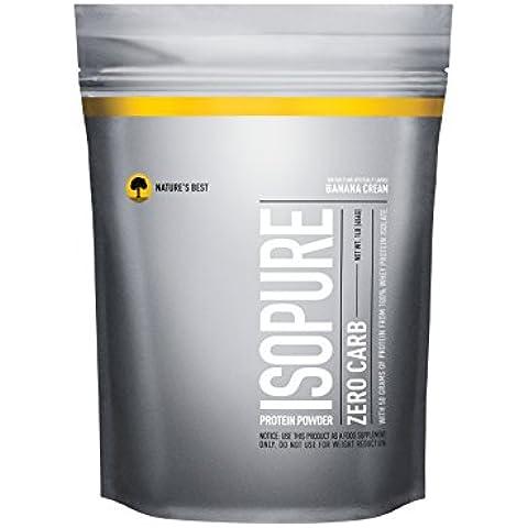 Isopure Zero Carb Protein Powder, Banana Cream, 1 Pound - 1 Lb Banana