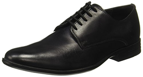Hush Puppies Men's Pl58 Black Leather Formal Shoes