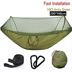 290x140ultralight Nylon Hammock With Mosquito Net Support Up To Two People Porch Backyard Indoor Outdoor Camping Mosquito Net Hammock