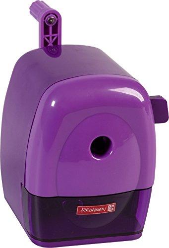 Brunnen 102987260 Spitzmaschine Kurbel Colour Code (mit Tischzwinge, für dicke und dünne Stifte bis 11,5 mm) violett / purple