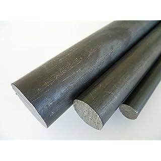 B&T Metall Rundstahl ST 37 Drm. Ø 20 mm gewalzt, schwarz - Länge ca. 1,0 m (1000mm +0/-3 mm) - Maßtoleranzen nach DIN EN 10060 (DIN 1013) Stahl Rund Stahlwelle Stahl Rundstab Stahl Rundstange